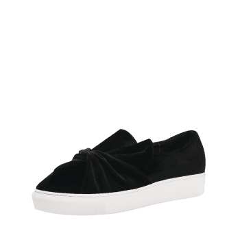 Platform Cross Twist Front Slip On Shoes - BLACK 36