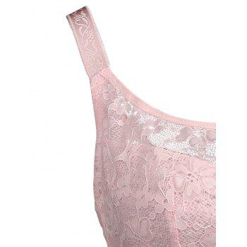 Plus Size Floral Lace Unlined Underwire Bra - LIGHT PINK LIGHT PINK