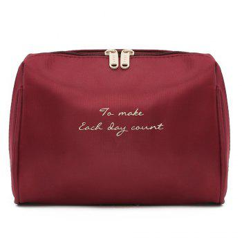 Travelling Waterproof Letter Print Storage Bag - WINE RED WINE RED