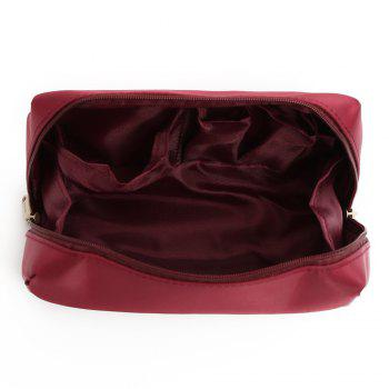 Travelling Waterproof Letter Print Storage Bag -  WINE RED