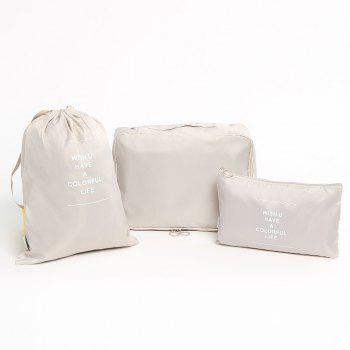 Travelling 6 Pieces Multifunctional Storage Bag Set - CHAMPAGNE