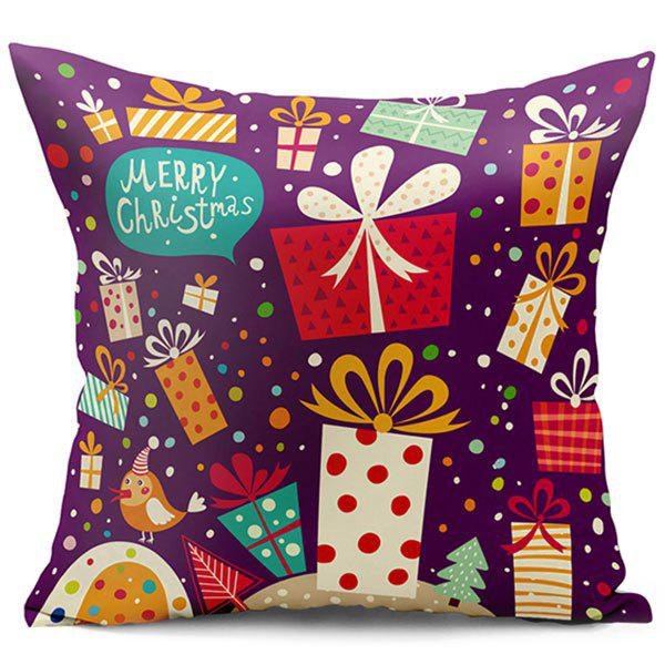 Christmas Gift Double Side Printed Decorative Pillow Case santa claus christmas gift printed decorative pillow case