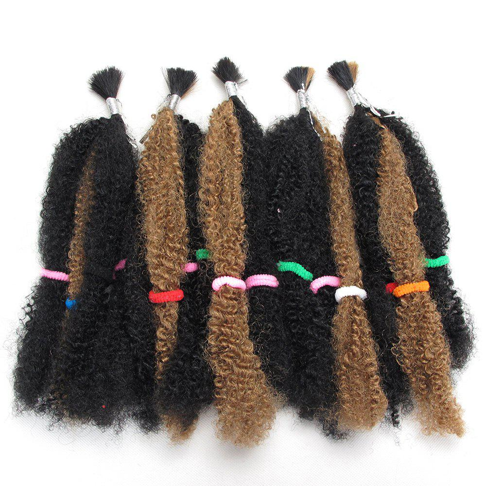 Long Fluffy Afro Curly Synthetic 5Pcs Hair Weaves - GOLDEN BLONDE