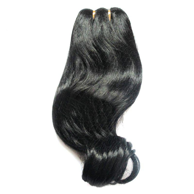 Short Hair Imitation Straight Synthetic Hair Weft - BLACK