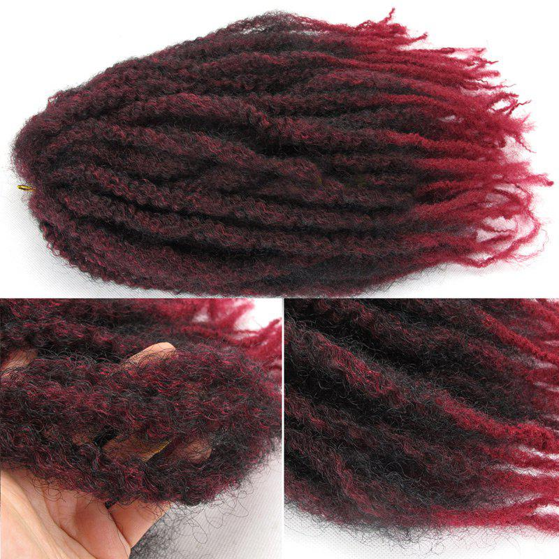 Truffe Afro Curly Colormix Long Fluffy cheveux synthétiques - Bordeaux