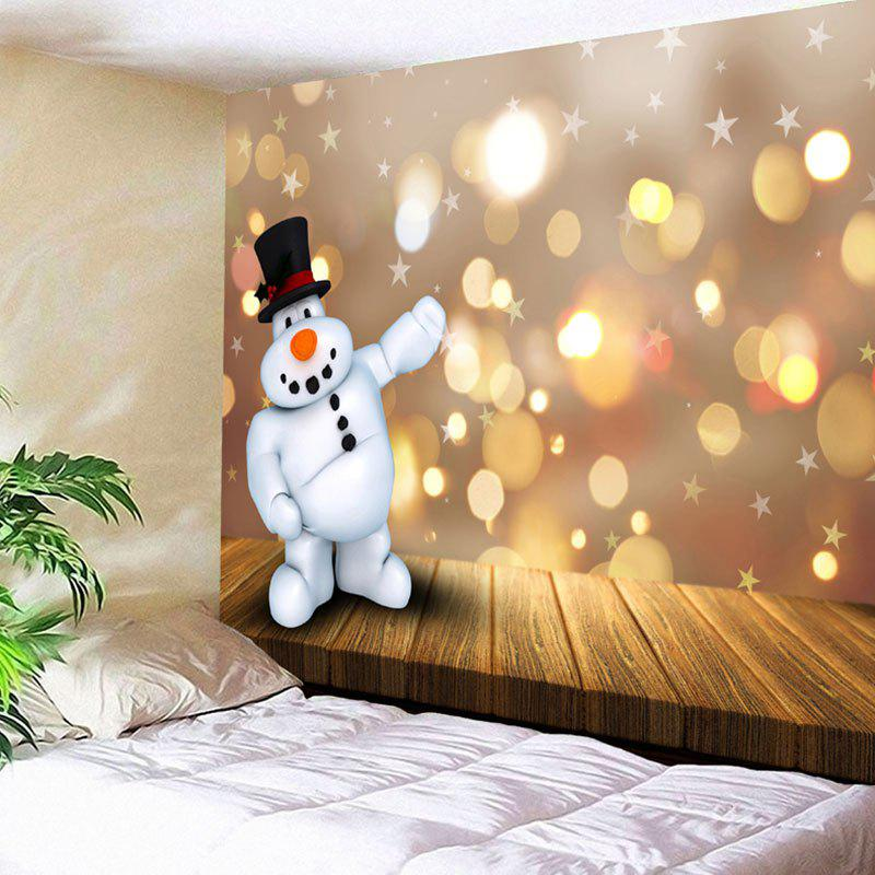 Wall Hanging Christmas Cartoon Snowman Pattern Tapestry christmas tree snowman printed wall tapestry