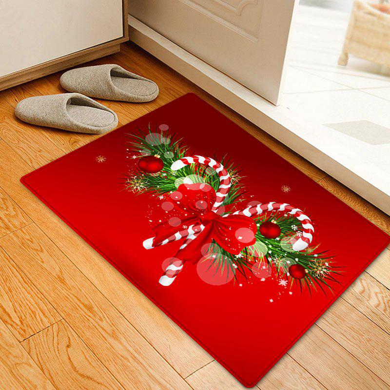 2018 Christmas Candy Cane Pattern Indoor Outdoor Area Rug