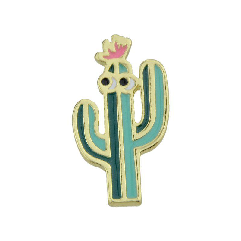 Alloy Cactus Tiny Funny Brooch - GREEN