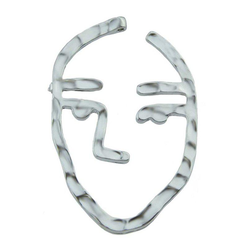 Alloy Face Funny Brooch - SILVER