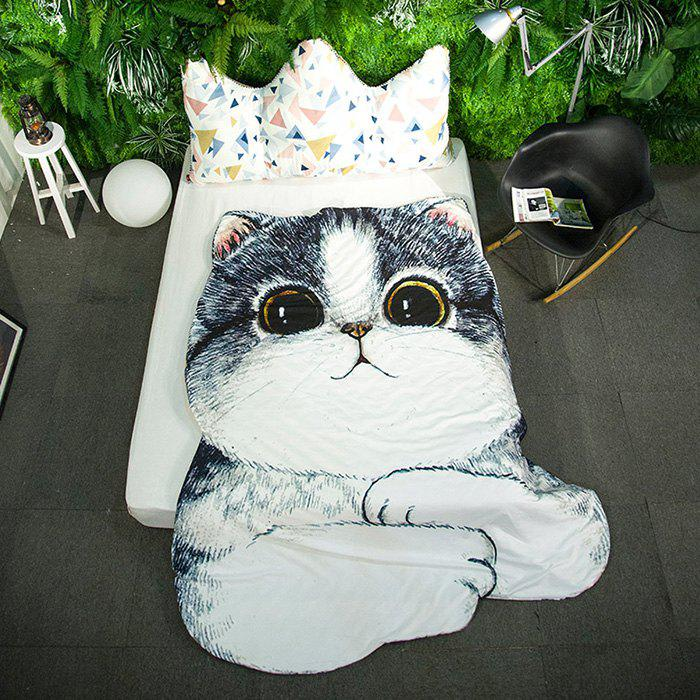 Cartoon 3D Cat Print Bed Summer Quilt - COLORMIX 80*115CM