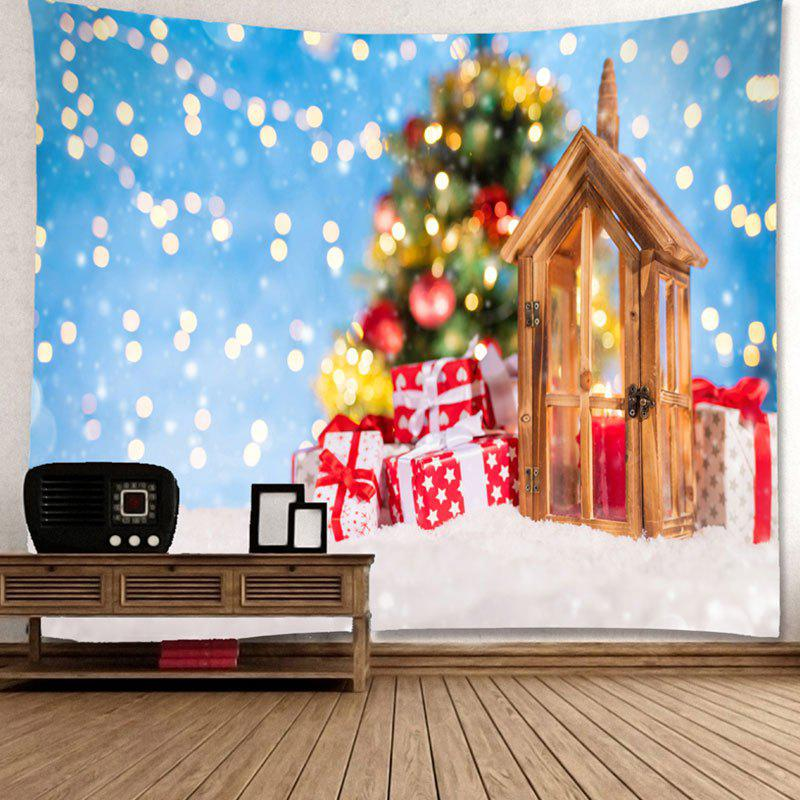 Bedroom Decor Christmas Gift Printed Wall Tapestry - SKY BLUE W91 INCH * L71 INCH