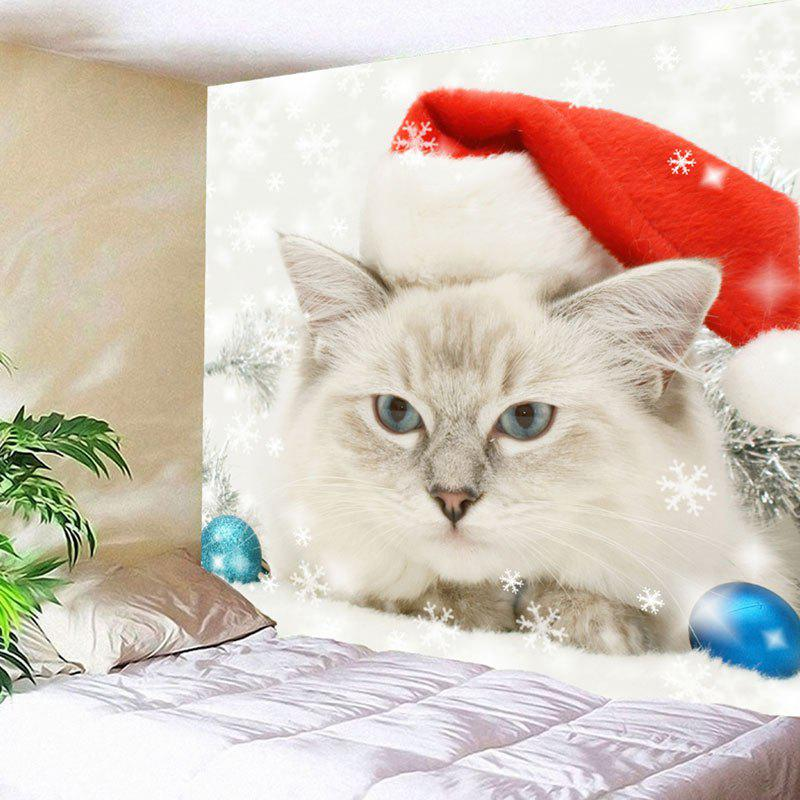 Wall Hanging Christmas Cat Pattern Tapestry цена 2017