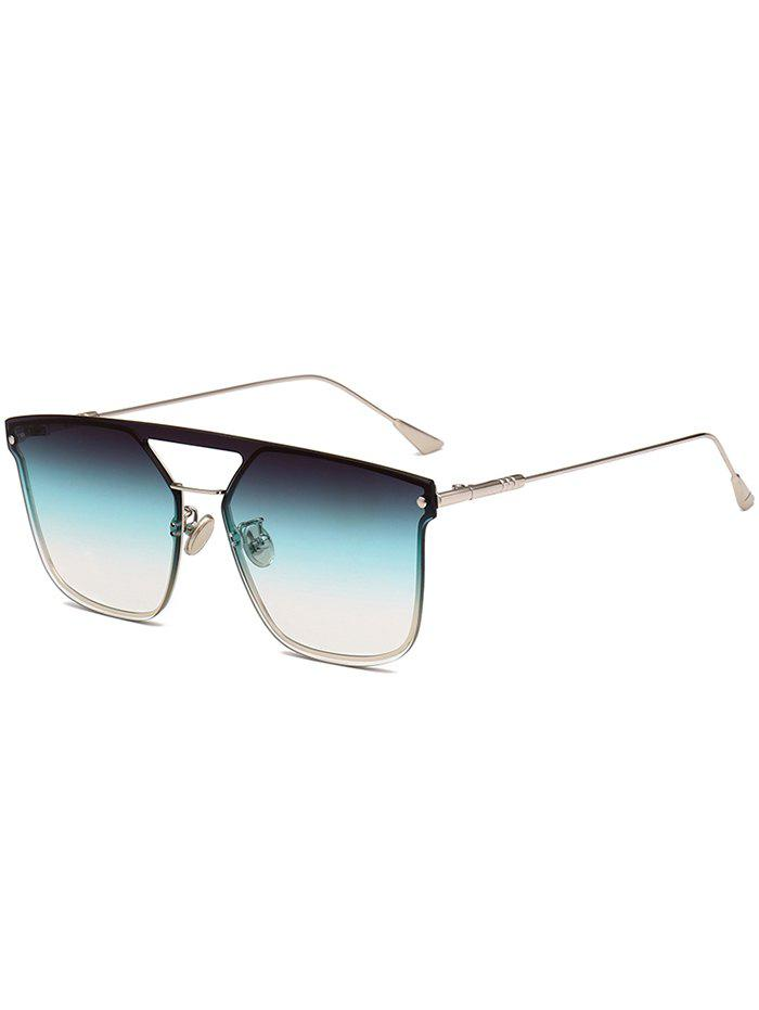 Anti UV Crossbar Decorated Metal Full Frame Sunglasses - OCEAN SERIES