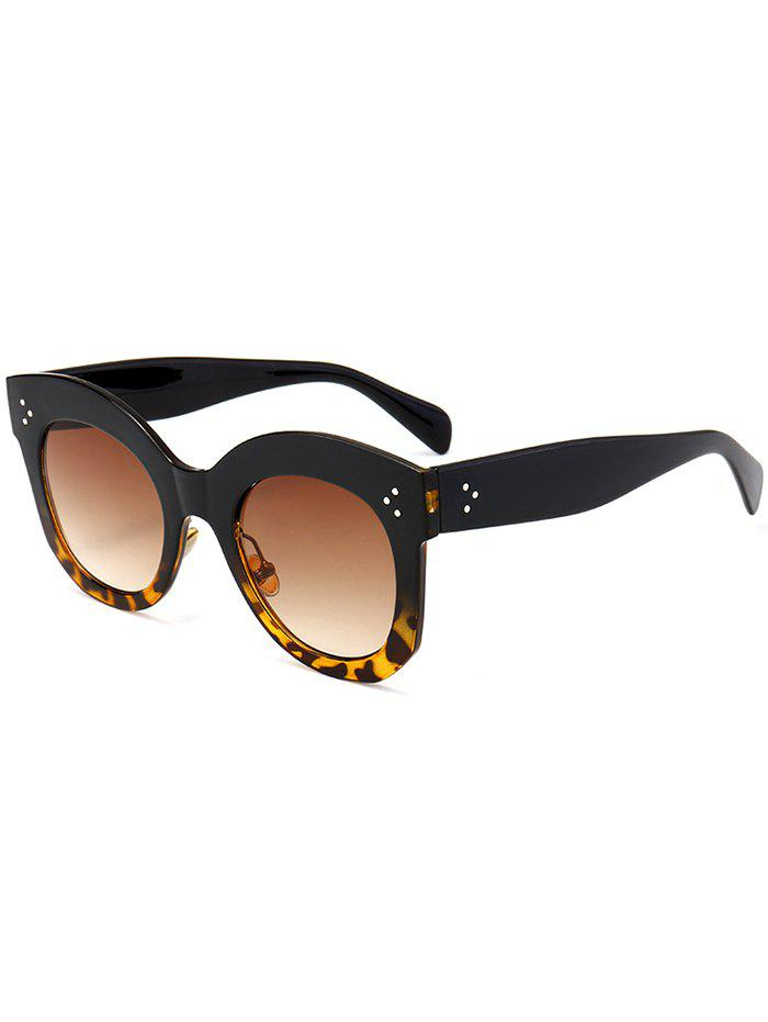 Vintage Anti UV Full Frame Driver Sunglasses - LEOPARD/ DOUBLE DARK BROWN