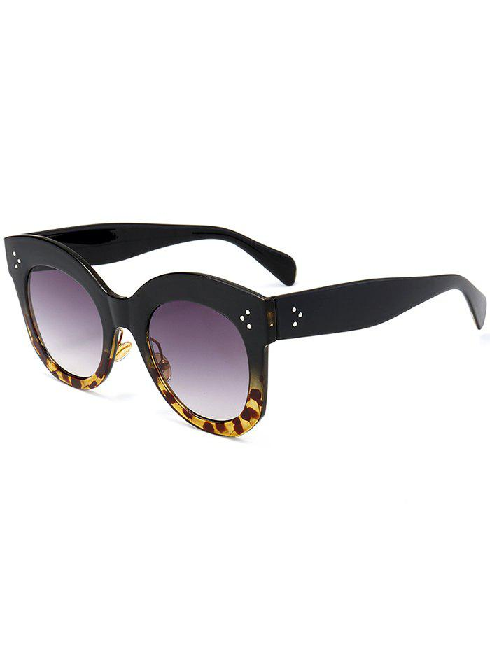 Vintage Anti UV Full Frame Driver Sunglasses - BLACK/LEOPARD C