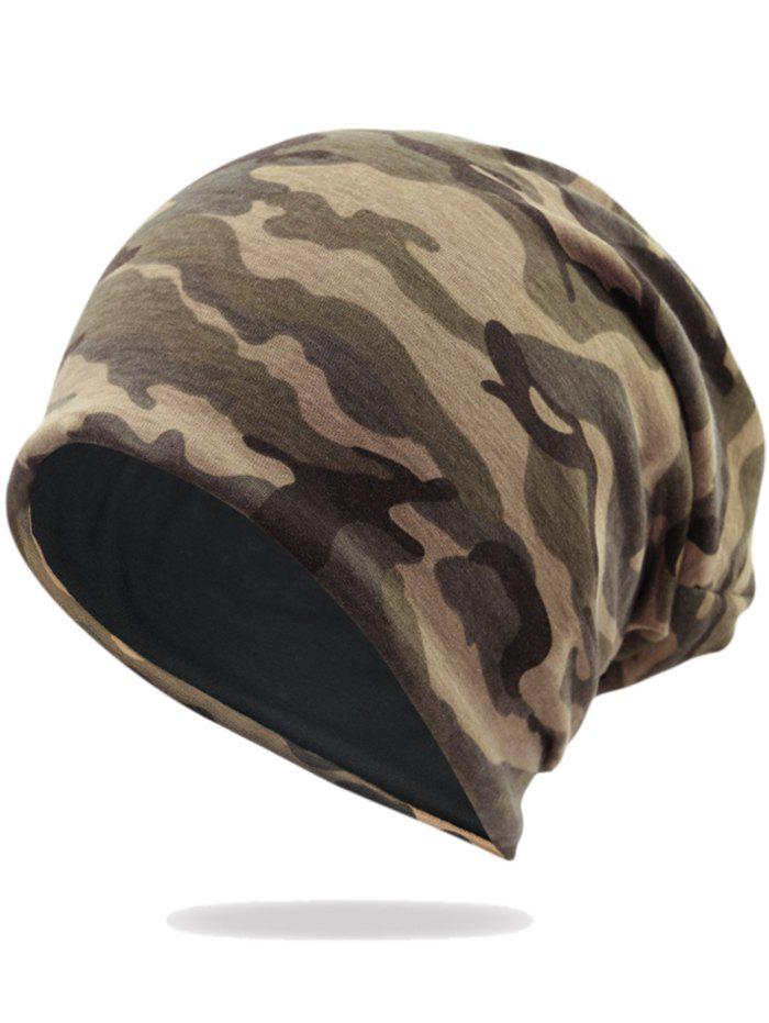 Camouflage Pattern Decorated Baggy Beanie Hat - PATTERN B