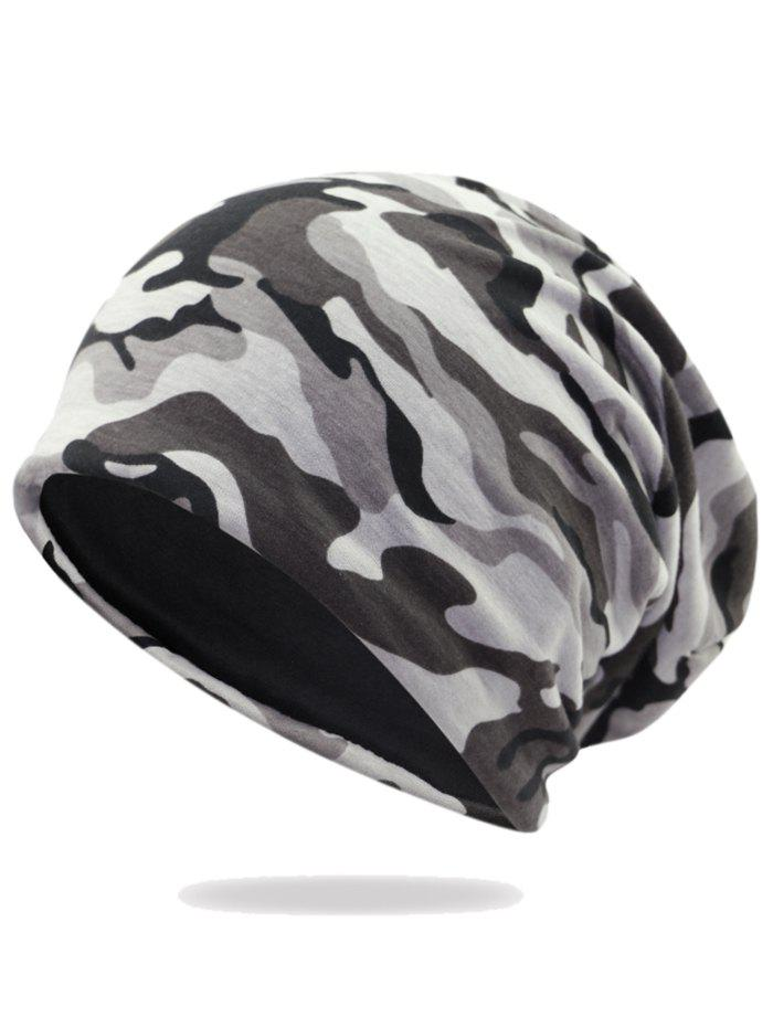 Camouflage Pattern Decorated Baggy Beanie Hat - PATTERN D