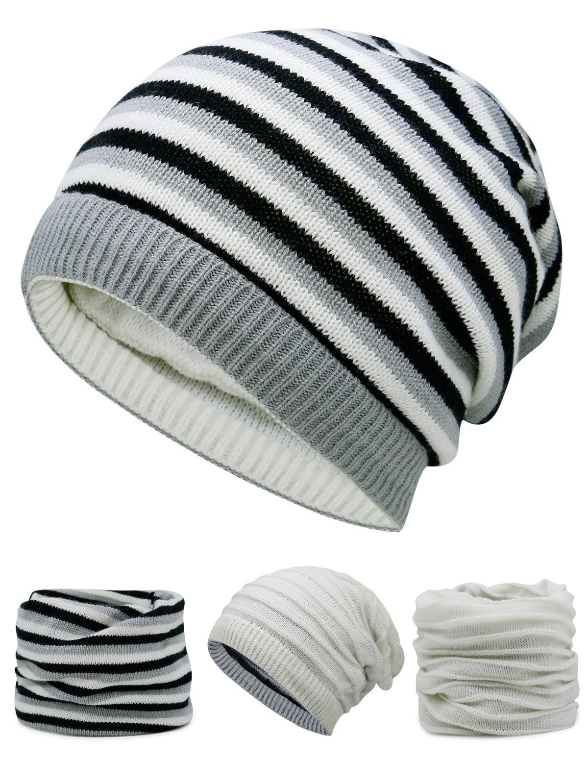Open Top Decorated Reversible Crochet Knitted Beanie