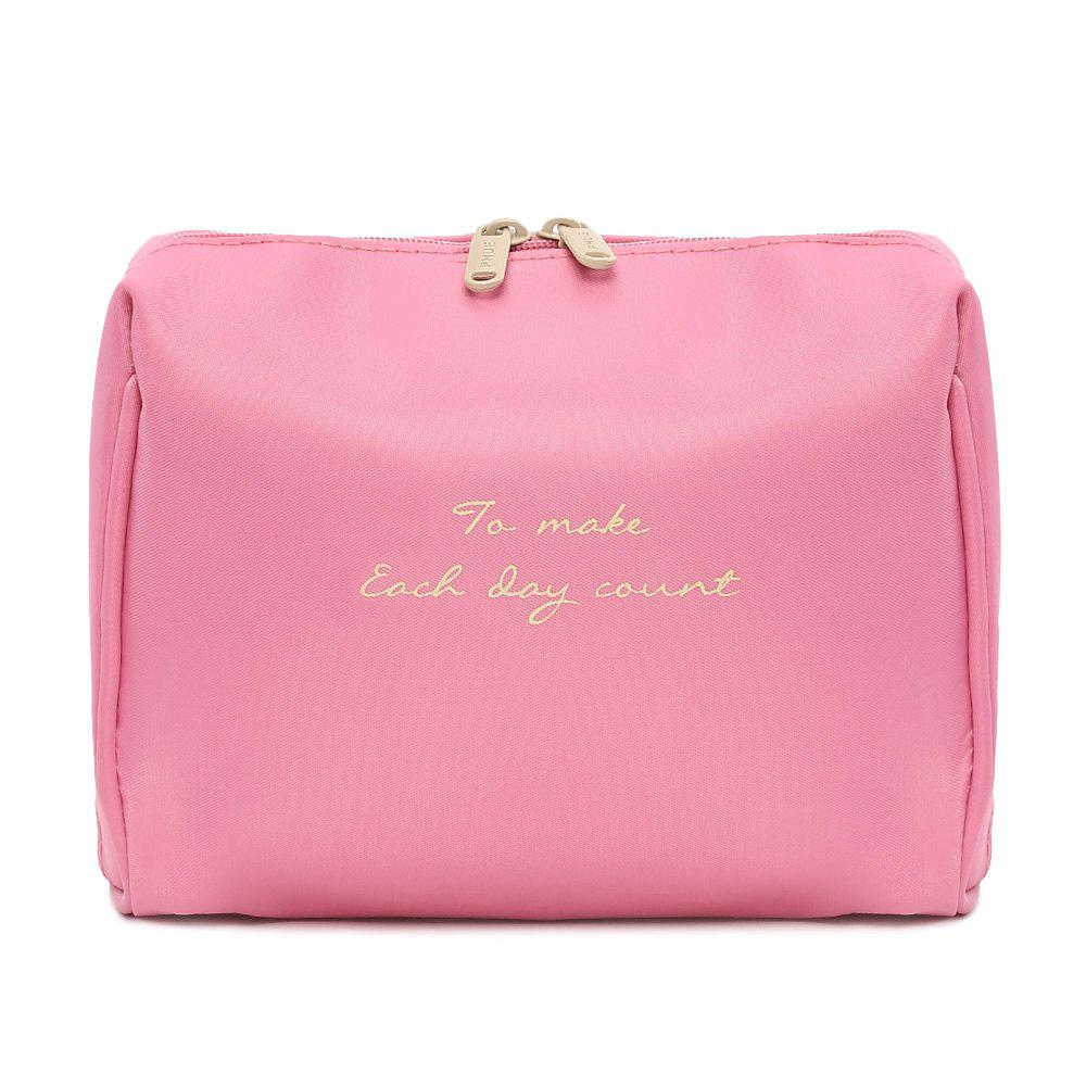 Travelling Waterproof Letter Print Storage Bag - PINK