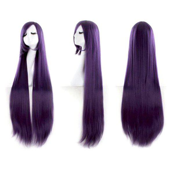 Ultra Long Inclined Fringe Straight Synthetic Party Wig - CONCORD