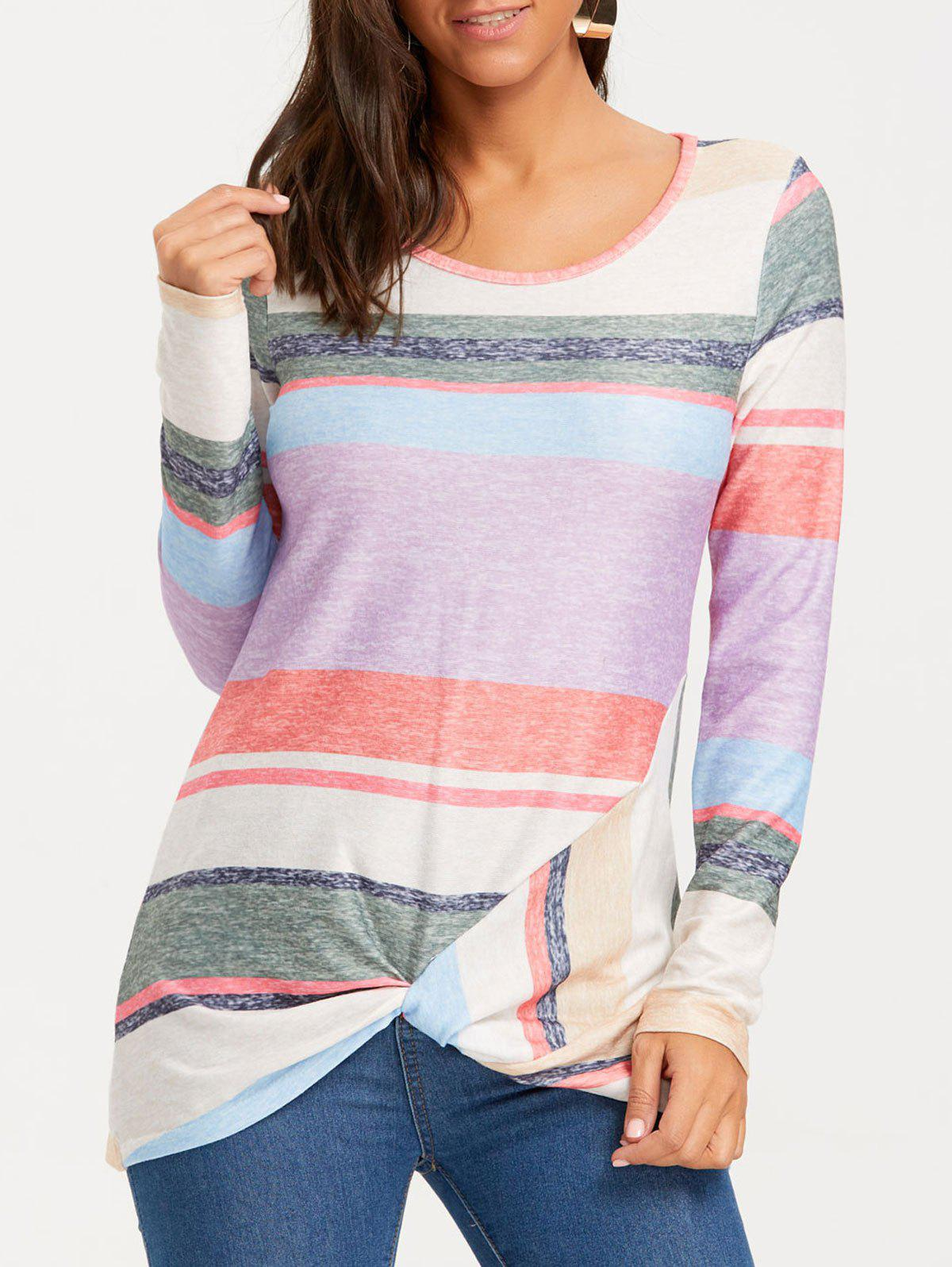 Color Block Striped Long Sleeve Top color block striped long sleeve top