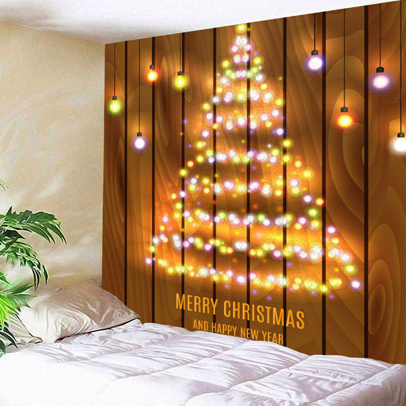 Neon Christmas Tree Printed Wall Hanging Tapestry christmas tree snowman printed wall tapestry