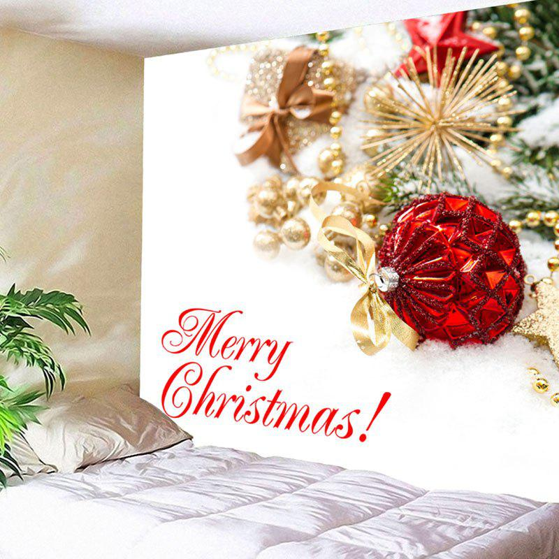 Wall Hanging Merry Christmas Ball Letter Print Tapestry waterproof merry christmas graphic pattern wall hanging tapestry