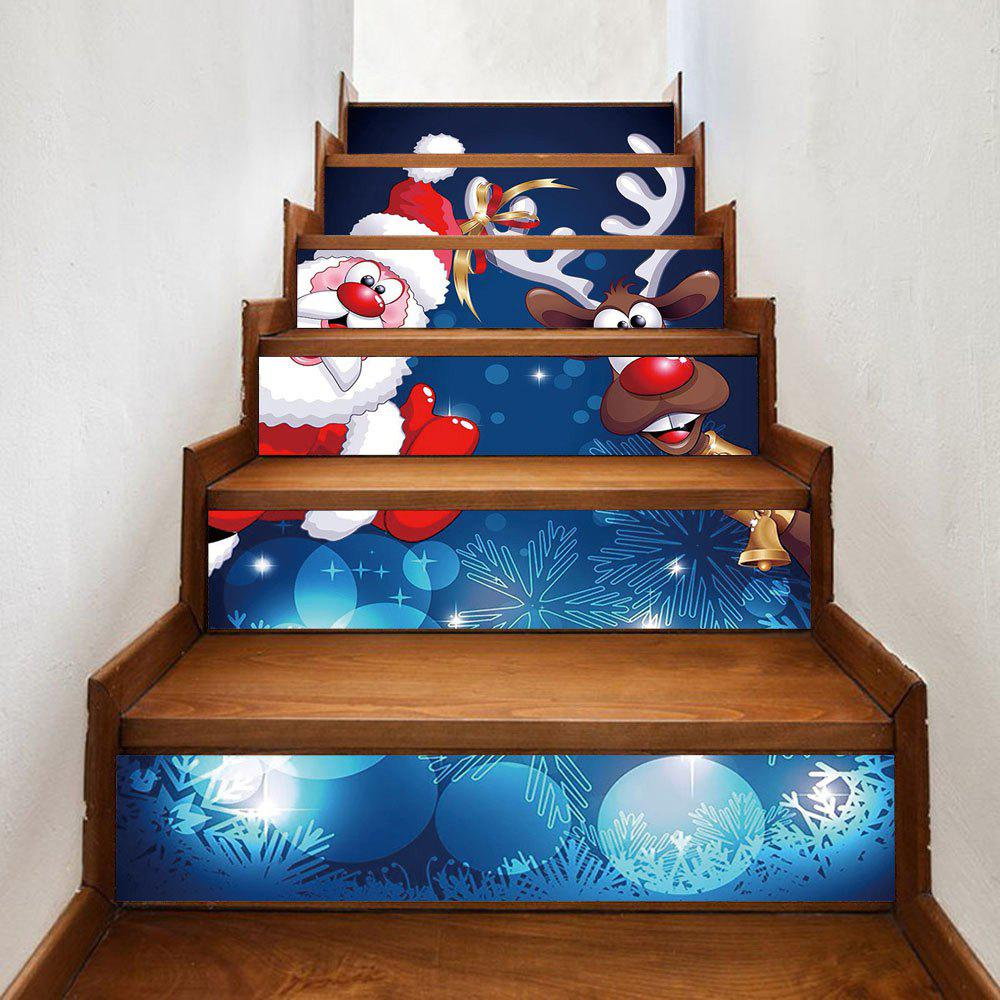 Christmas Santa Deer Pattern Stair Stickers mobil 600xp220 320 150 100 68 680 208l