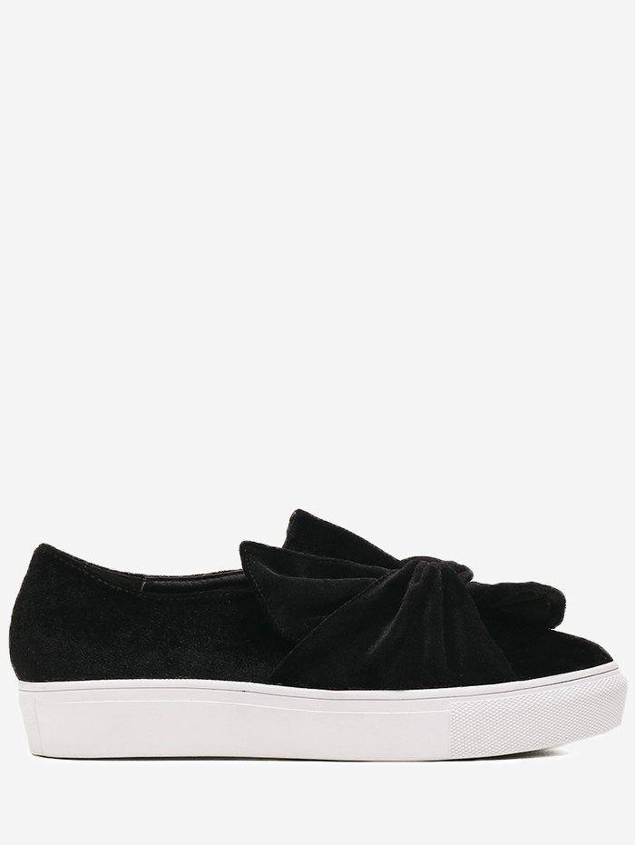 Dresslily Platform Cross Twist Front Slip On Shoes