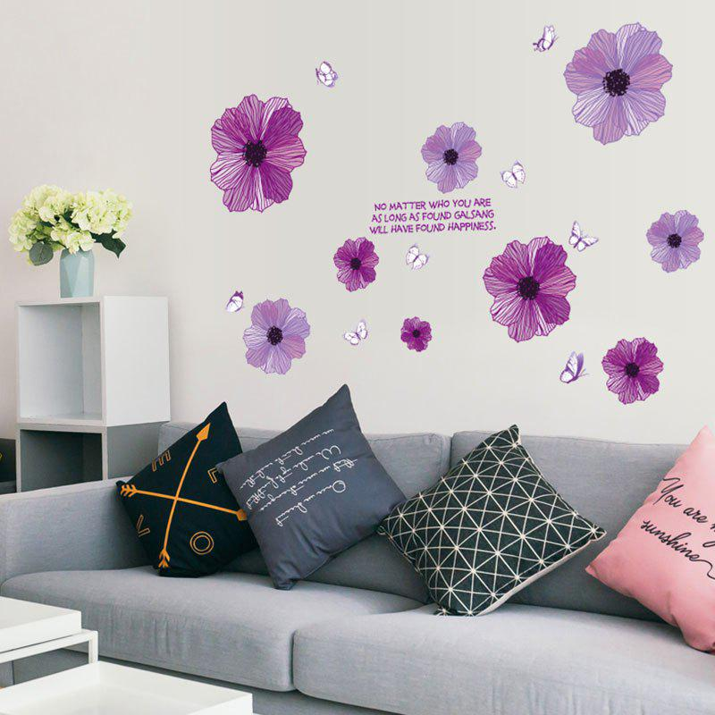 2018 Flowers And Butterflies Shape Diy Decorative Wall Stickers