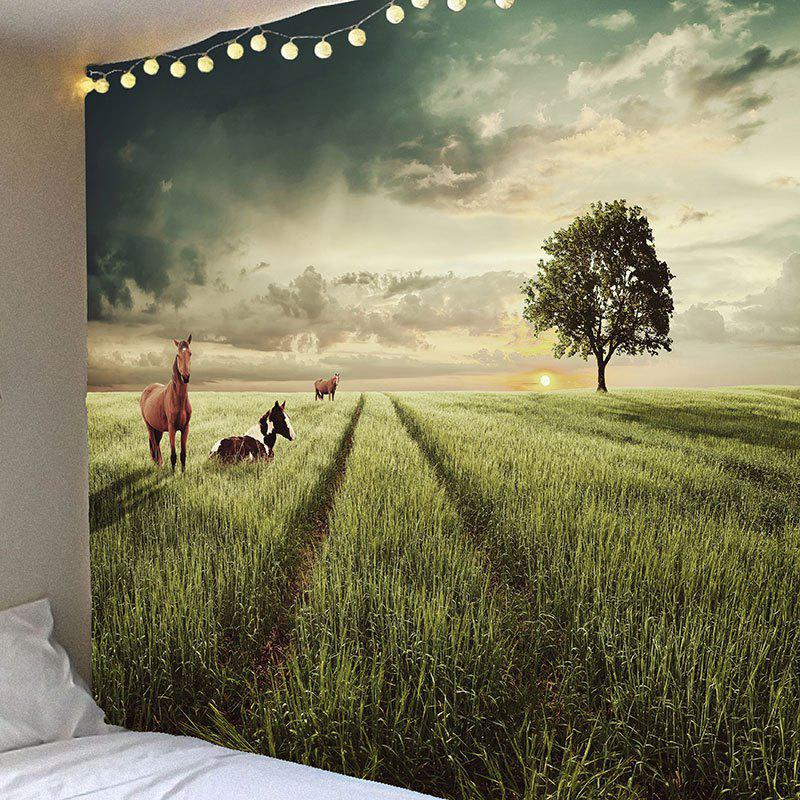 Grasses Horse Pattern Waterproof Wall Art Tapestry nutritional evaluation of irrigated grasses