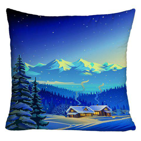 Landscape Printed Decorative Throw Pillow Case - BLUE W18 INCH * L18 INCH