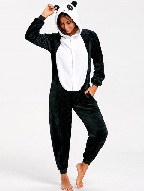 Panda Cute Animal Onesie Pajamas - BLACK WHITE S