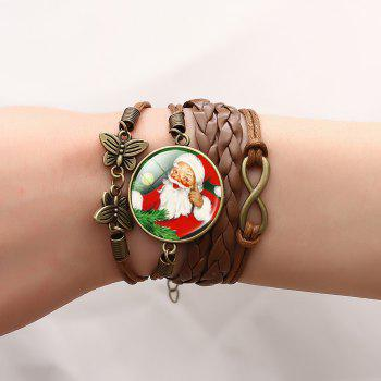 Christmas Santa Infinite Butterfly Braid Bracelet - PATTERN C PATTERN C