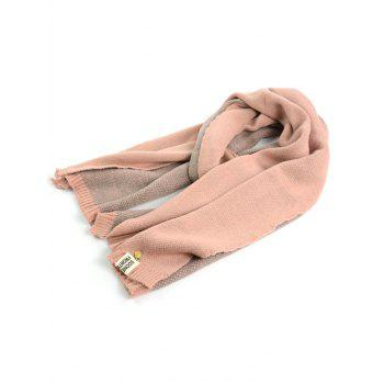 Outdoor Pineapple Decorated Faux Wool Long Scarf - PINK PINK