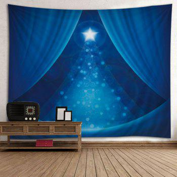 Christmas Star Print Tapestry Wall Hanging Art - BLUE W79 INCH * L71 INCH
