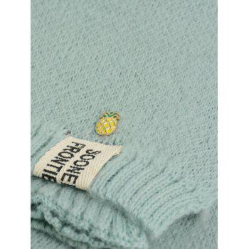 Outdoor Pineapple Decorated Faux Wool Long Scarf - LIGHT BLUE LIGHT BLUE
