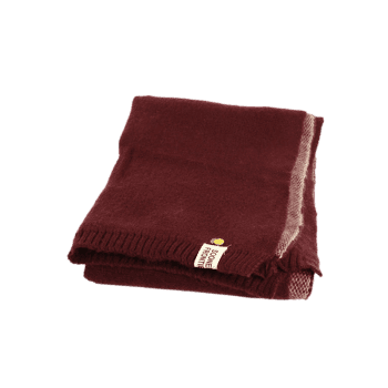Outdoor Pineapple Decorated Faux Wool Long Scarf - CLARET CLARET