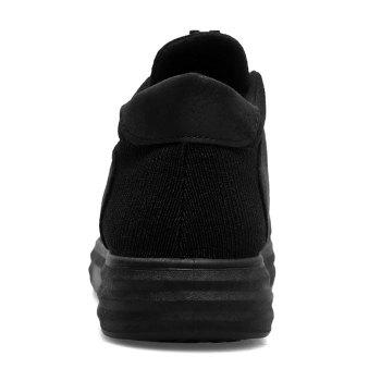 Faux Leather Leather Patched Casual Shoes - BLACK 41