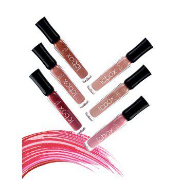 6Pcs Long Lasting Matte Lip Gloss Kit -  RED