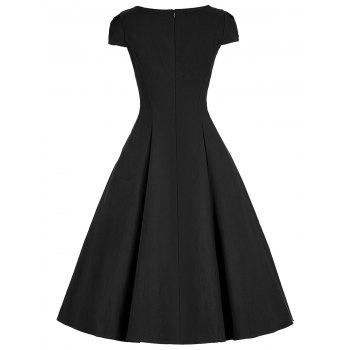 Sweetheart Vintage A Line Dress - Noir S