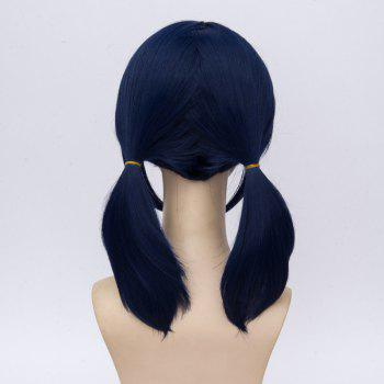 Medium Inclined Bang Two Ponytails The Miraculous Ladybug Marinette Cosplay Wig - CERULEAN