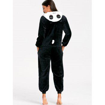 Panda Cute Animal Onesie Pajamas - BLACK WHITE XL