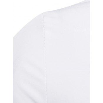 Long Sleeve Layered Double Breasted Shirt - WHITE 2XL