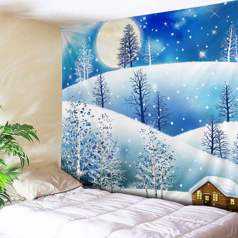 Christmas Moon Night Print Tapestry Wall Hanging Art облачная hd wi fi камера oco