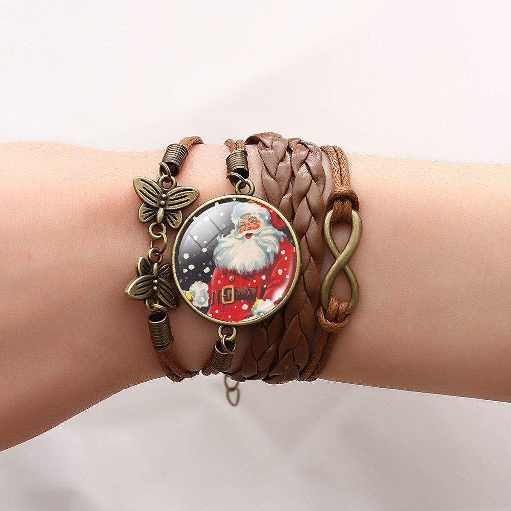 Christmas Santa Infinite Butterfly Braid Bracelet - PATTERN B