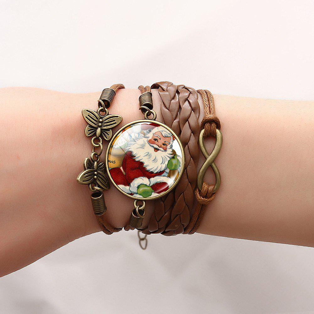 Christmas Santa Infinite Butterfly Braid Bracelet - PATTERN A