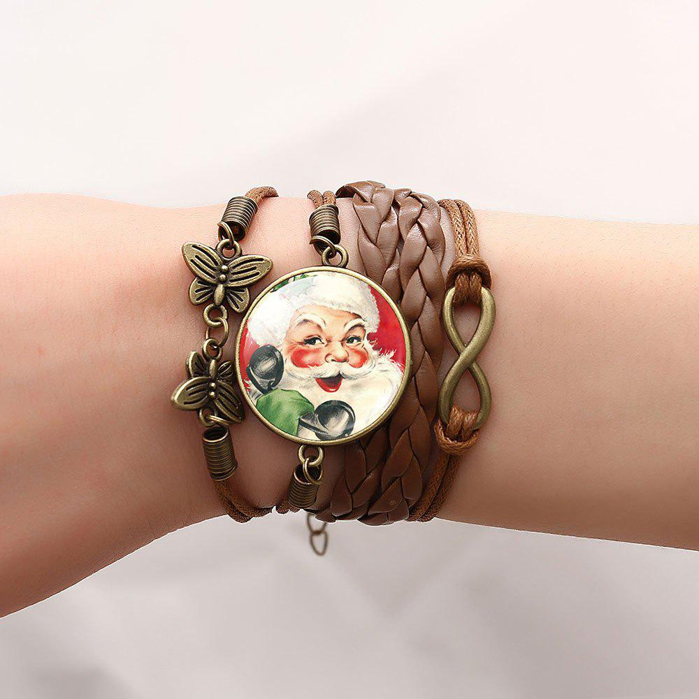Christmas Santa Infinite Butterfly Braid Bracelet - PATTERN D