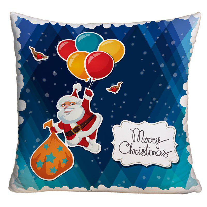 Santa Claus Balloon Printed Decorative Throw Pillowcase santa claus christmas gift printed decorative pillow case