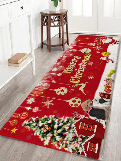 Flannel Skidproof Merry Christmas Printed Bath Mat bathroom flannel skidproof shore scenery mat